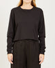 RICHER POORER-LONG SLEEVE CROP TEE BLACK-Women Tees + Tanks-{option1]