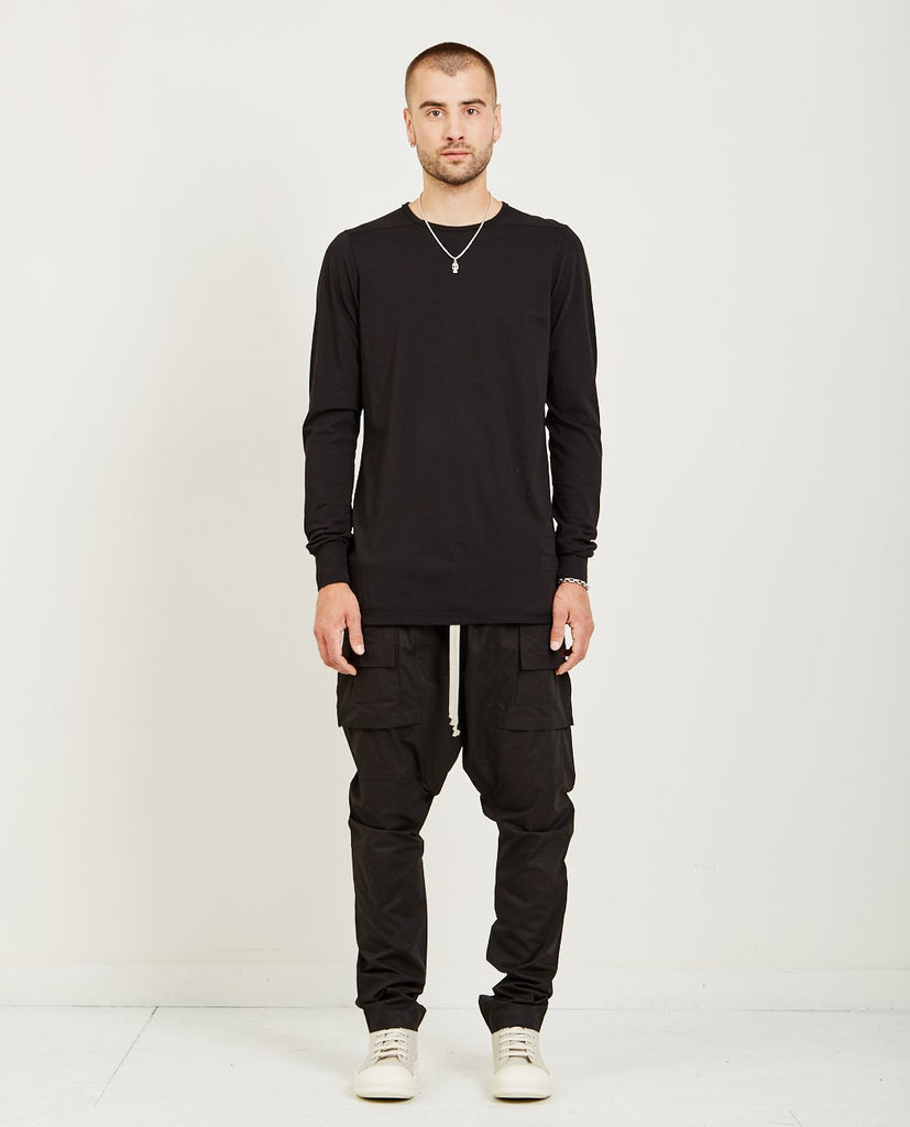 RICK OWENS DRKSHDW-LONG SLEEVE LEVEL TEE-Men Sweaters + Sweatshirts-{option1]