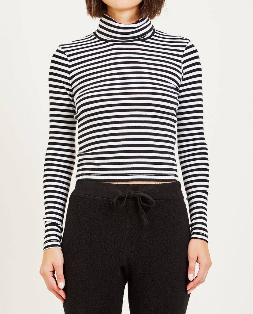 STATESIDE-LONG SLEEVE STRIPE TURTLENECK-Women Tees + Tanks-{option1]
