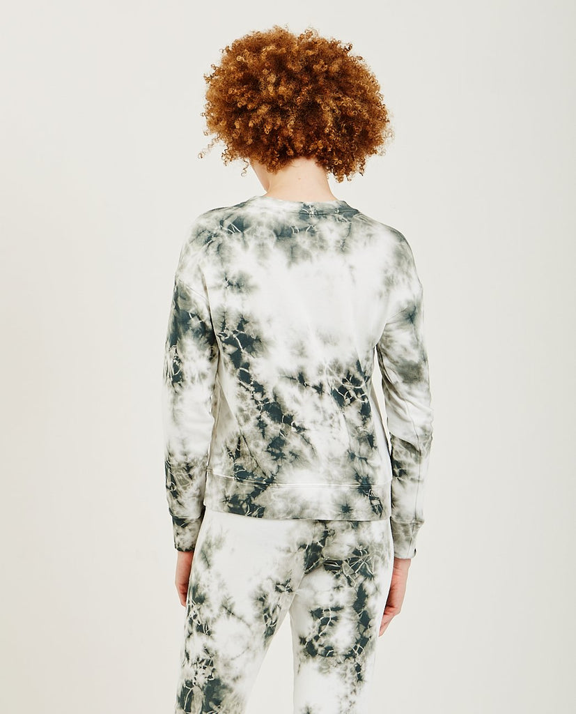 STATESIDE-Long Sleeve Tie Dye Fleece-WOMEN SWEATERS + SWEATSHIRT-{option1]