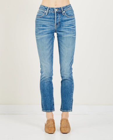 LEVI'S 501 CROPPED BLACK MARK