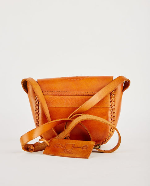 R.P.S. LOVINA TOOLED LEATHER CROSS BODY BAG