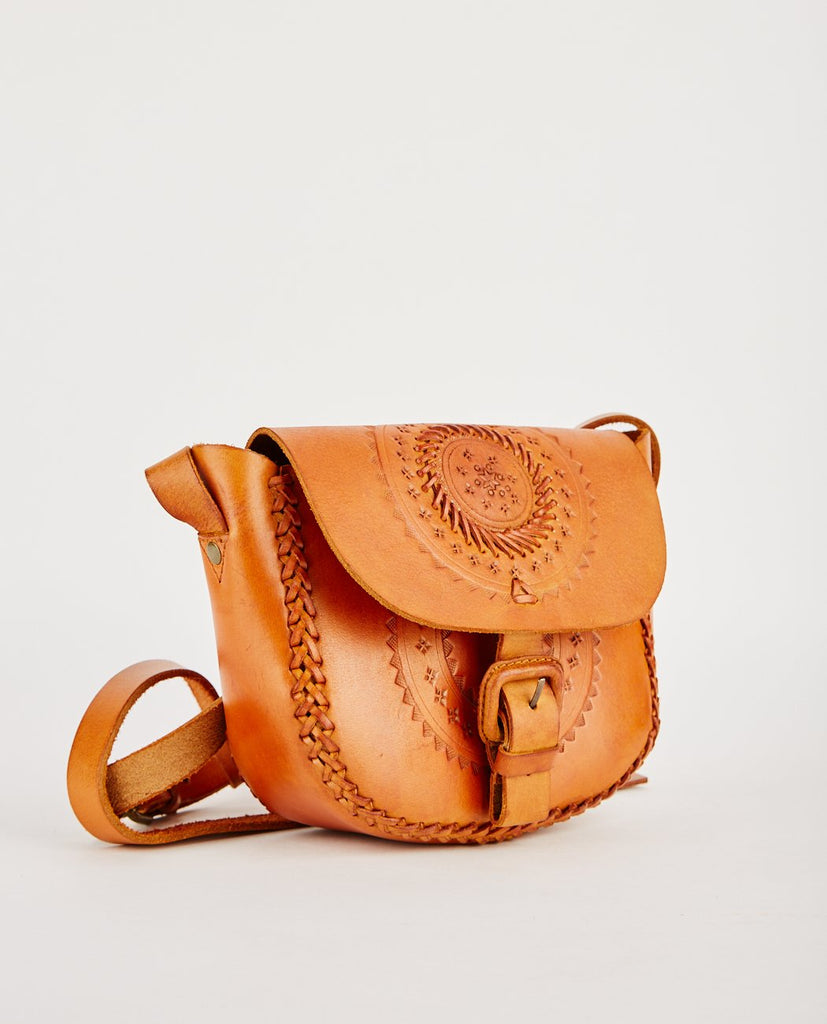 LOVINA TOOLED LEATHER CROSS BODY BAG-R.P.S.-American Rag Cie