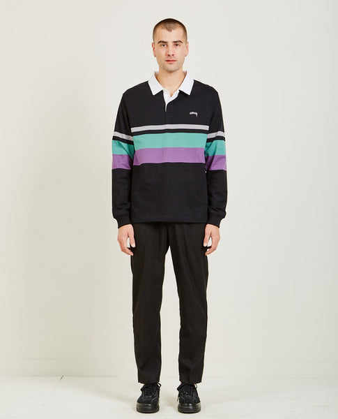 STUSSY LUCAS STRIPE LONG SLEEVE RUGBY POLO