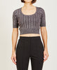 LUREX SHORT SLEEVE TOP-T BY ALEXANDER WANG-American Rag Cie