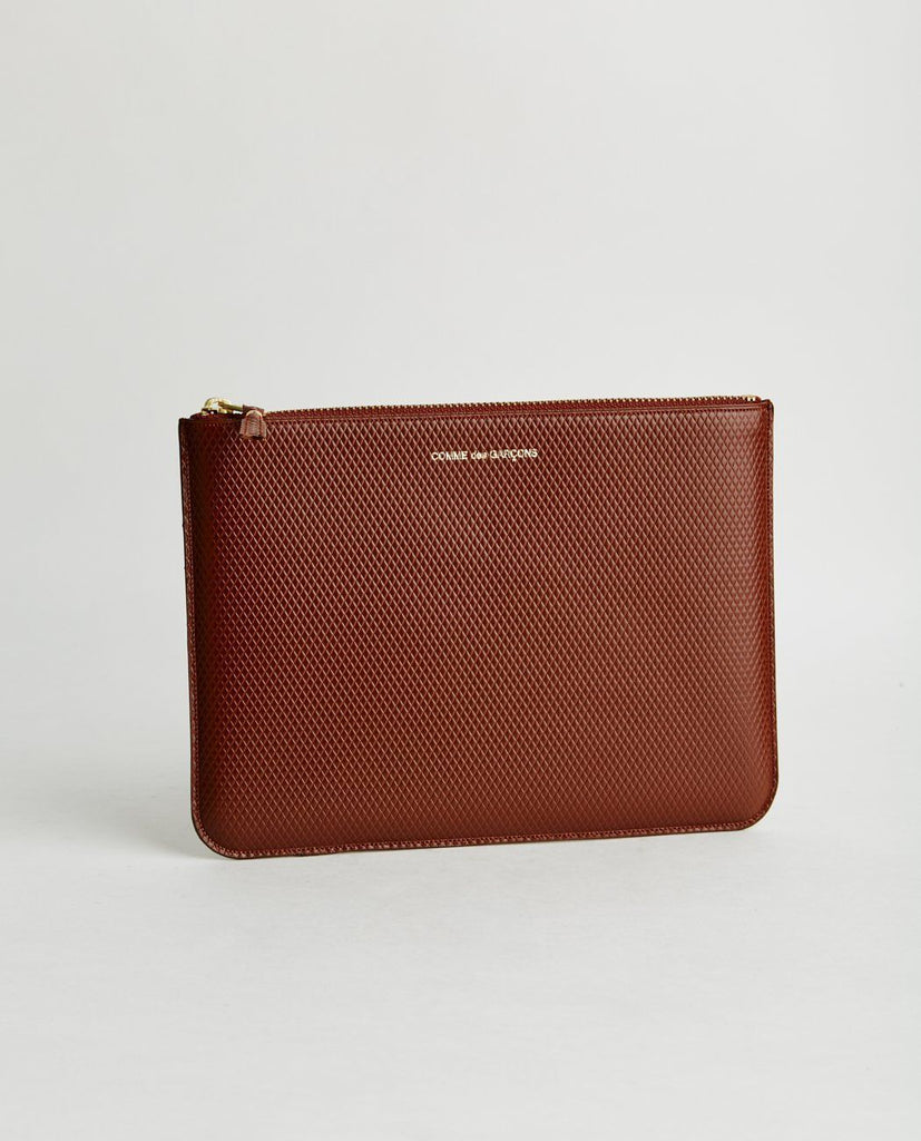 COMME DES GARÇONS WALLET-LUXURY LEATHER LINE POUCH-Women Bags + Wallets-{option1]