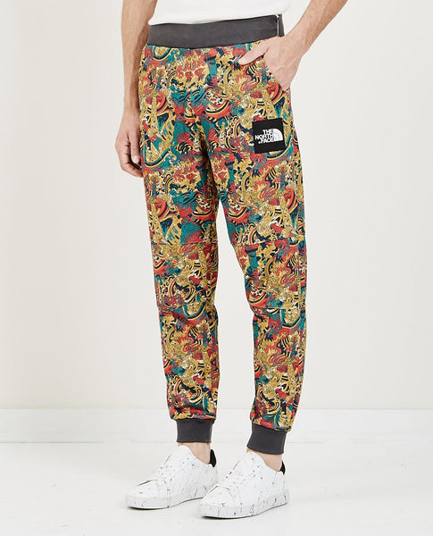THE NORTH FACE M FINE PANT LEOPARD YELLOW GENESIS