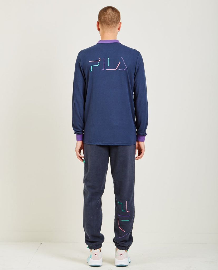 MAGIC LINE MAKALU II LONG SLEEVE POLO-FILA-American Rag Cie