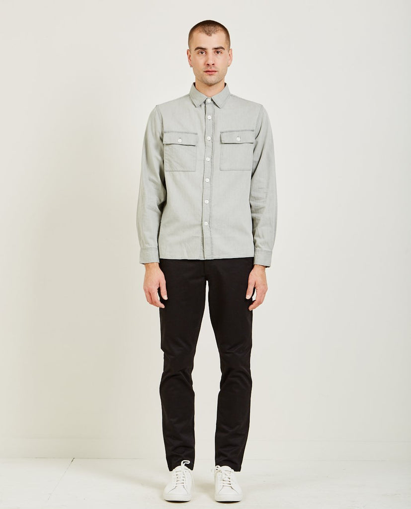 MAGNUS DENIM LONG SLEEVE SHIRT-SATURDAYS NYC-American Rag Cie