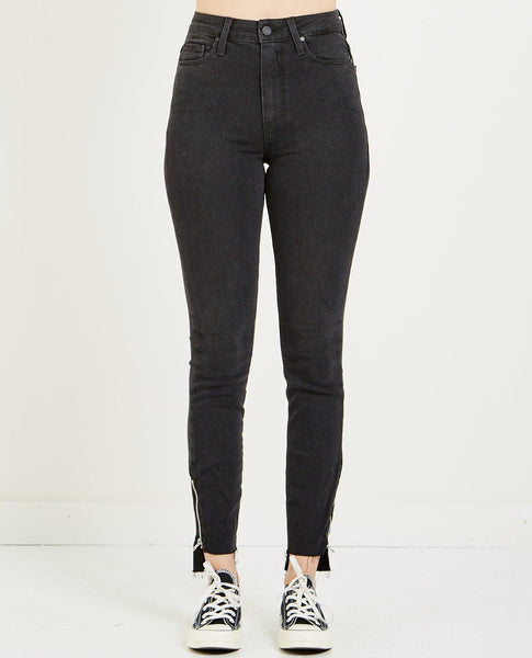 PAIGE MARGOT CROP JEAN BLACK FOG