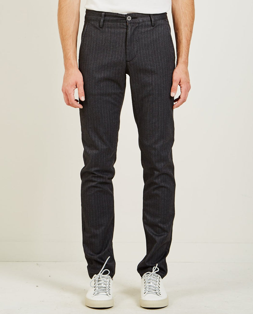 AG JEANS MARSHALL PINSTRIPE PANT HEATHER MELANGE & BLACK