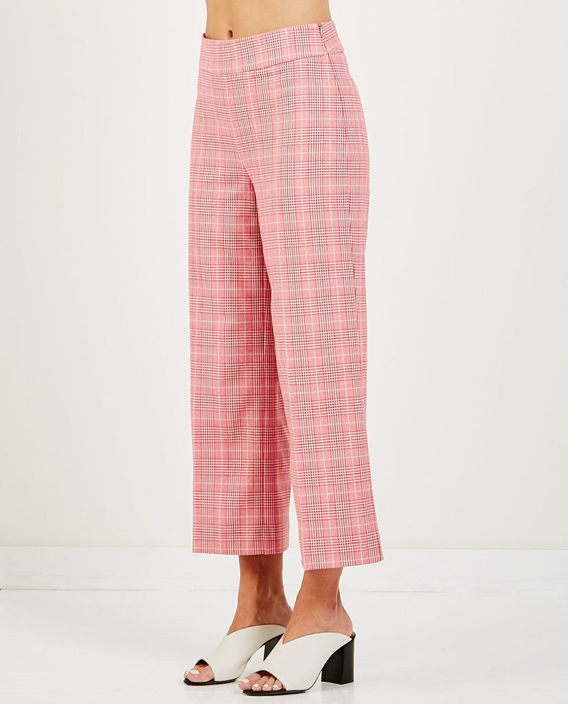 MAXIME TROUSER ROSE CHECK-JUST FEMALE-American Rag Cie