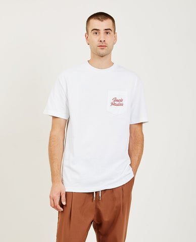AR321 Melange Crew Neck Pocket Tee Dusty Pink