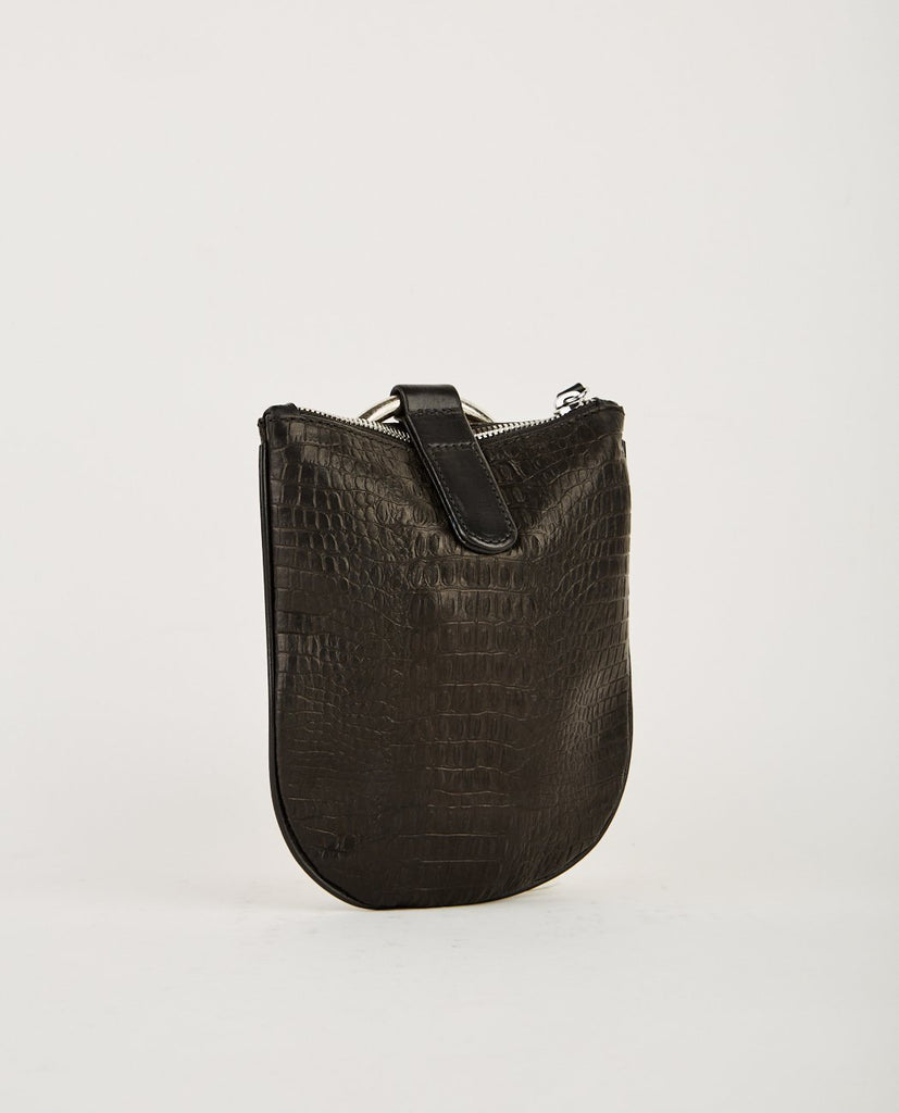 OTAAT MYERS COLLECTIVE-MEDIUM RING POUCH BLACK CROC-Women Bags + Wallets-{option1]