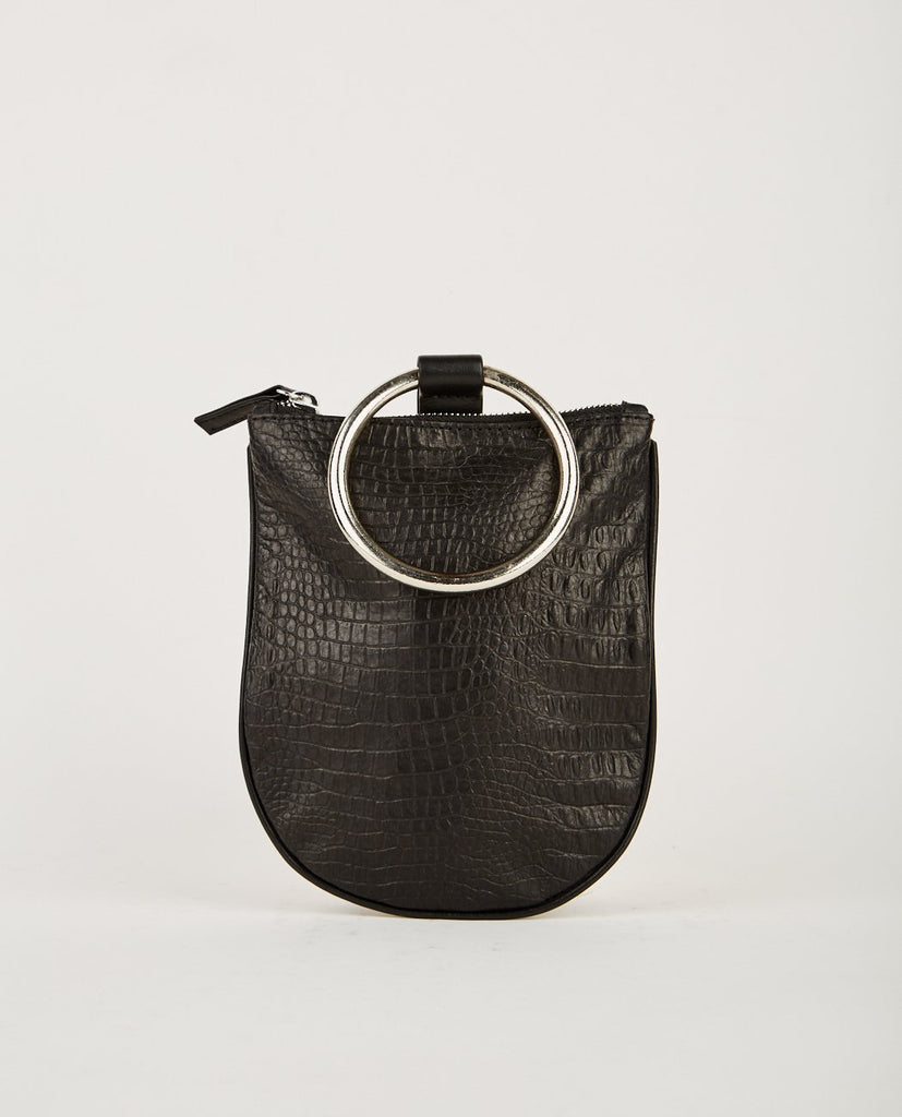 OTAAT MYERS COLLECTIVE MEDIUM RING POUCH BLACK CROC