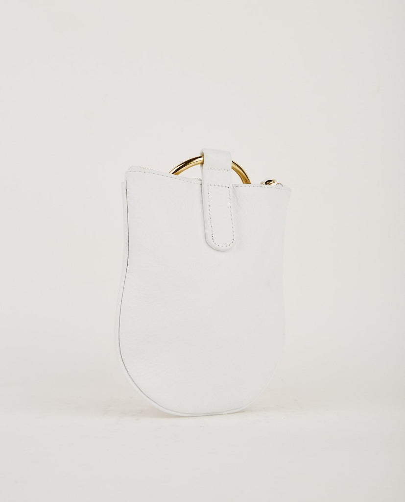 OTAAT MYERS COLLECTIVE-MEDIUM RING POUCH WHITE-Women Bags + Wallets-{option1]