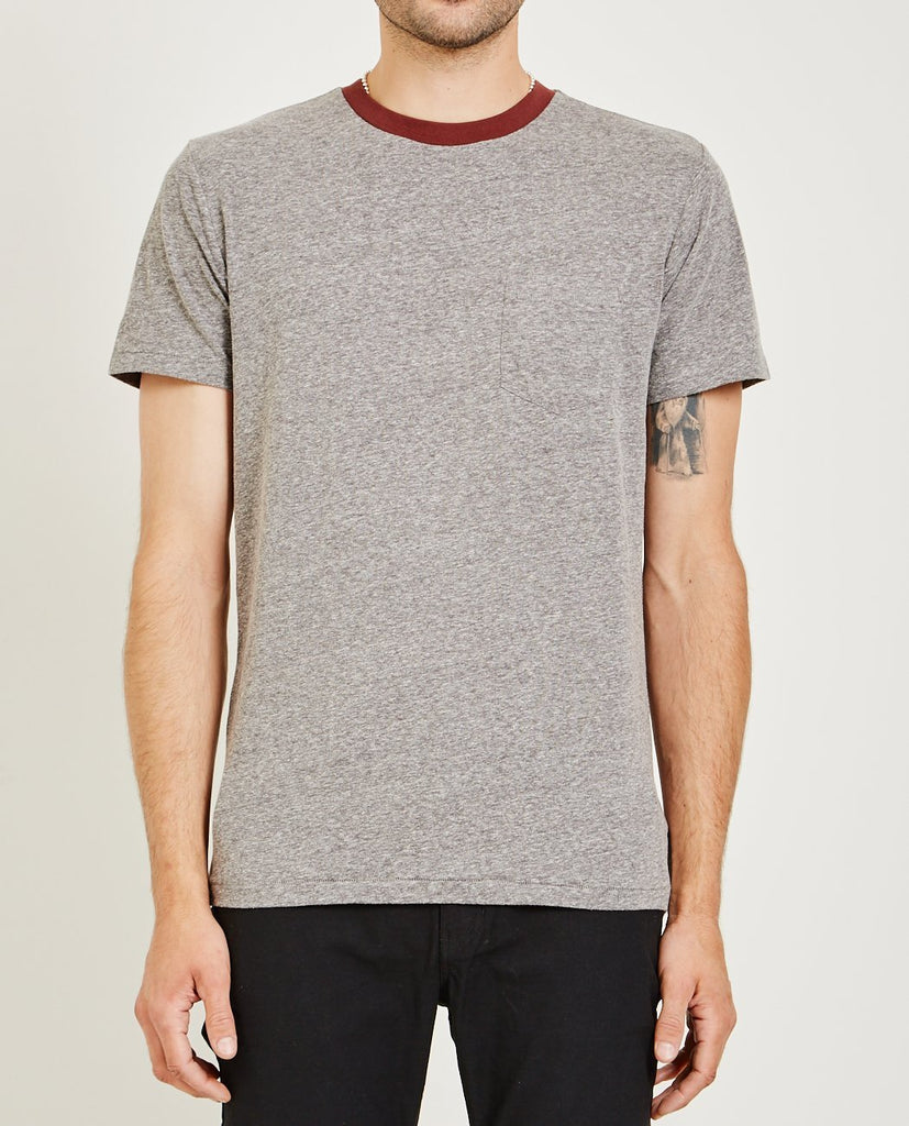 AR321-Melange Crew Neck Pocket Tee Bordeaux-Men Tees + Tanks-{option1]