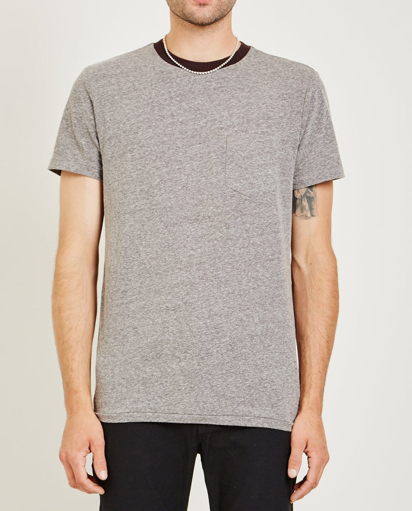 AR321-MELANGE CREW NECK POCKET TEE CHARCOAL-Men Tees + Tanks-{option1]
