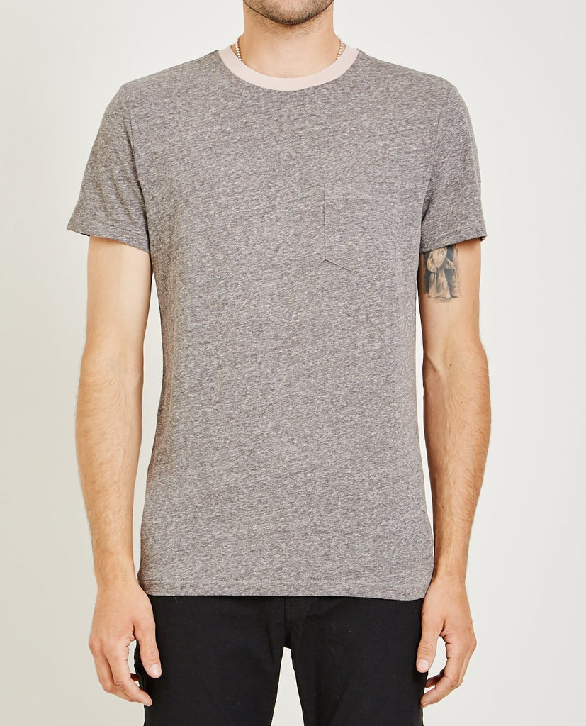 AR321-MELANGE CREW NECK POCKET TEE DUSTY PINK-Men Tees + Tanks-{option1]