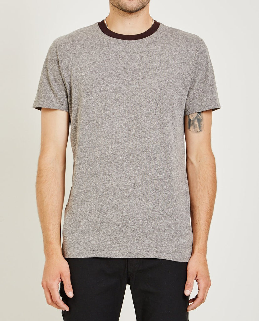 AR321-Melange Crew Neck Tee Charcoal-Men Tees + Tanks-{option1]
