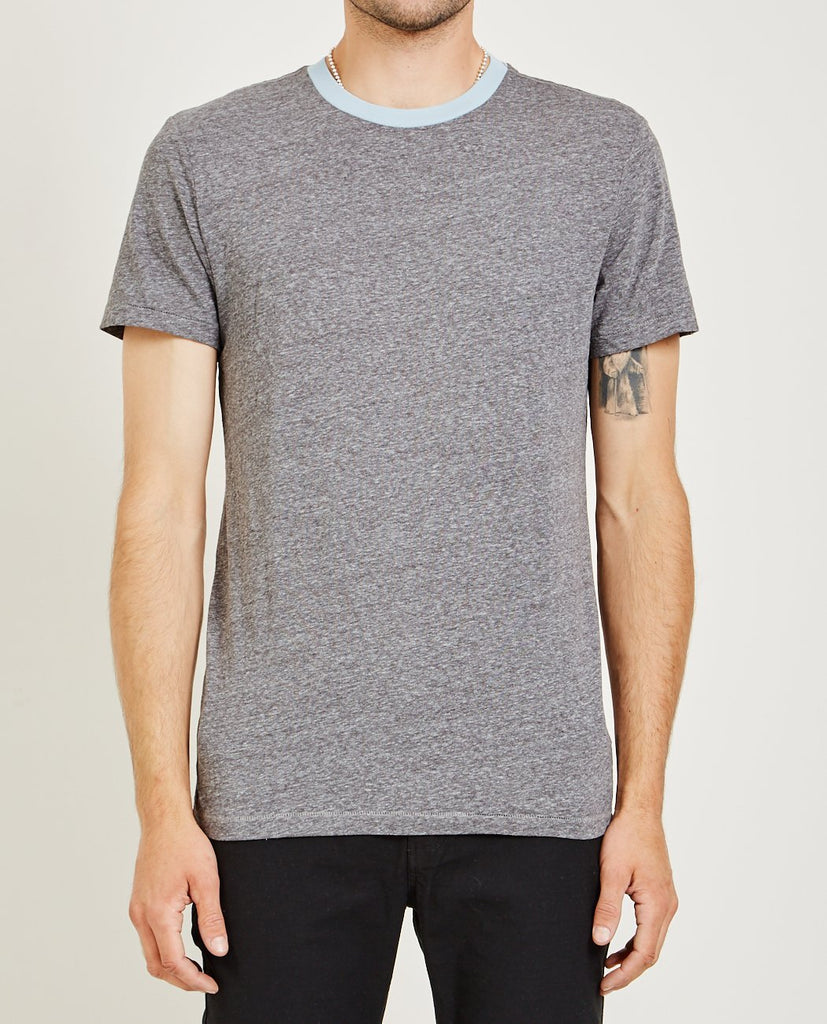 MELANGE CREW NECK TEE LIGHT BLUE-AR321-American Rag Cie