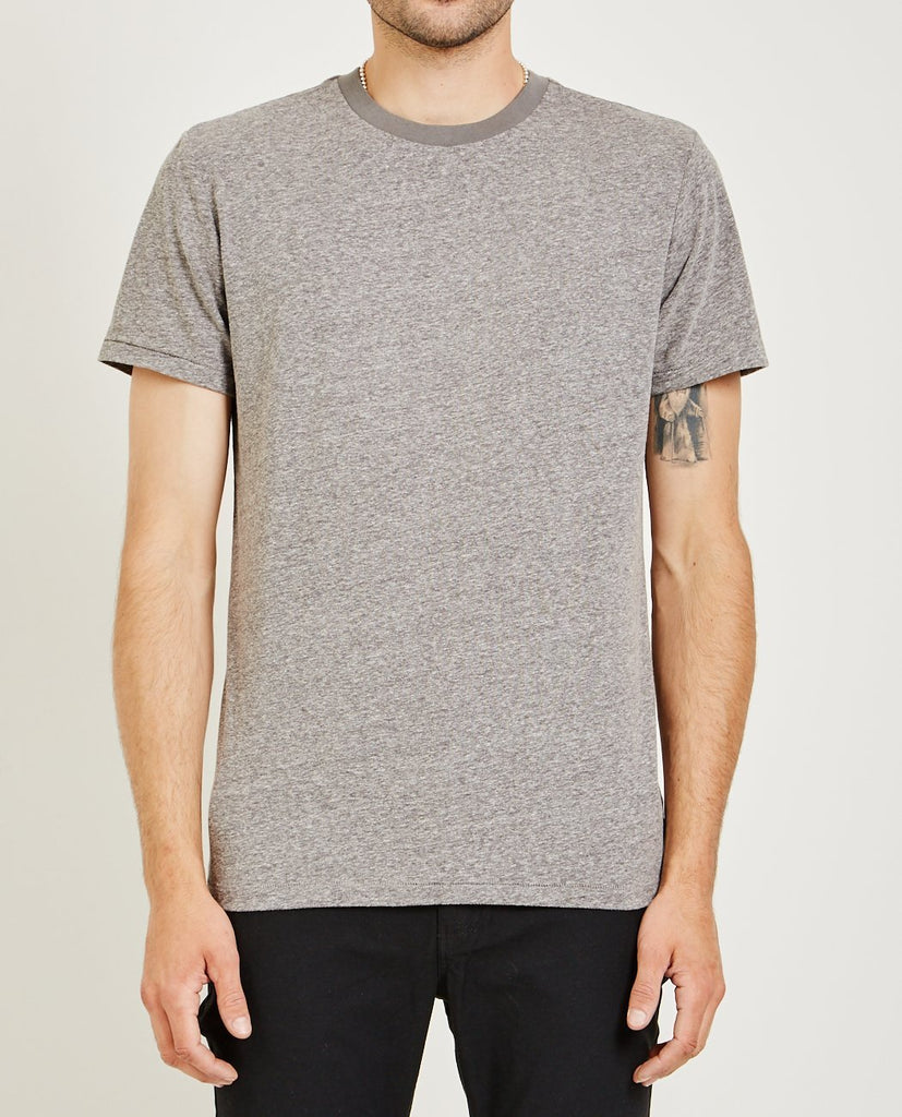 AR321-MELANGE CREW NECK TEE MEDIUM GRAY-Men Tees + Tanks-{option1]