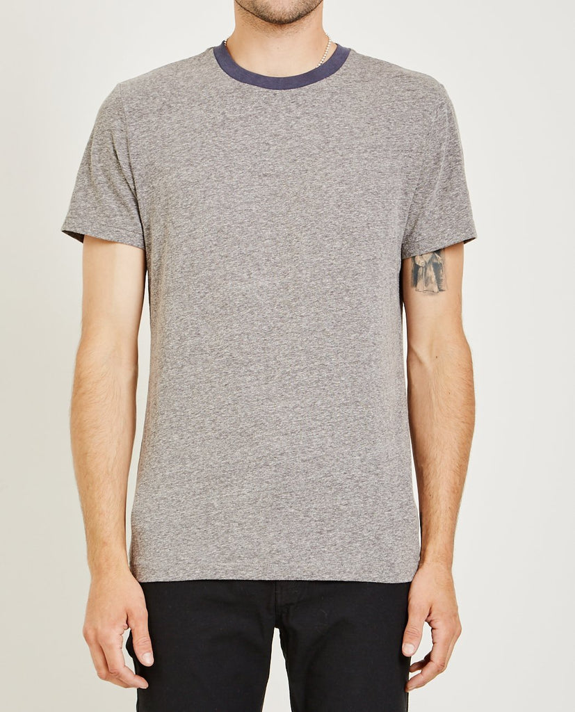 AR321-Melange Crew Neck Tee Vintage Blue-Men Tees + Tanks-{option1]