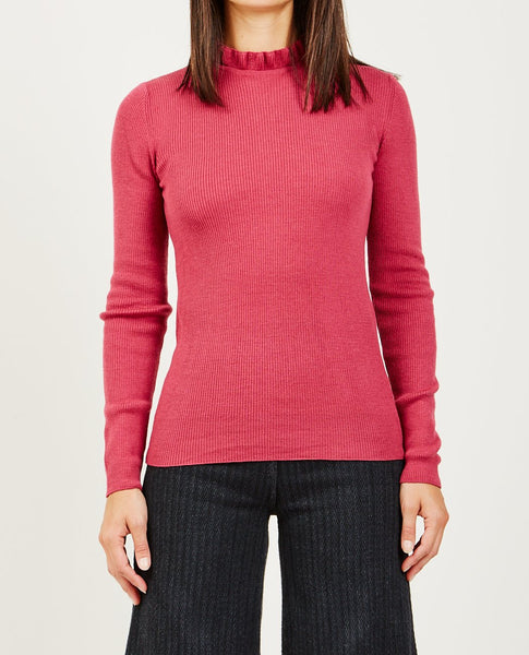 STINE GOYA MERET RUFFLE HIGH NECK KNIT