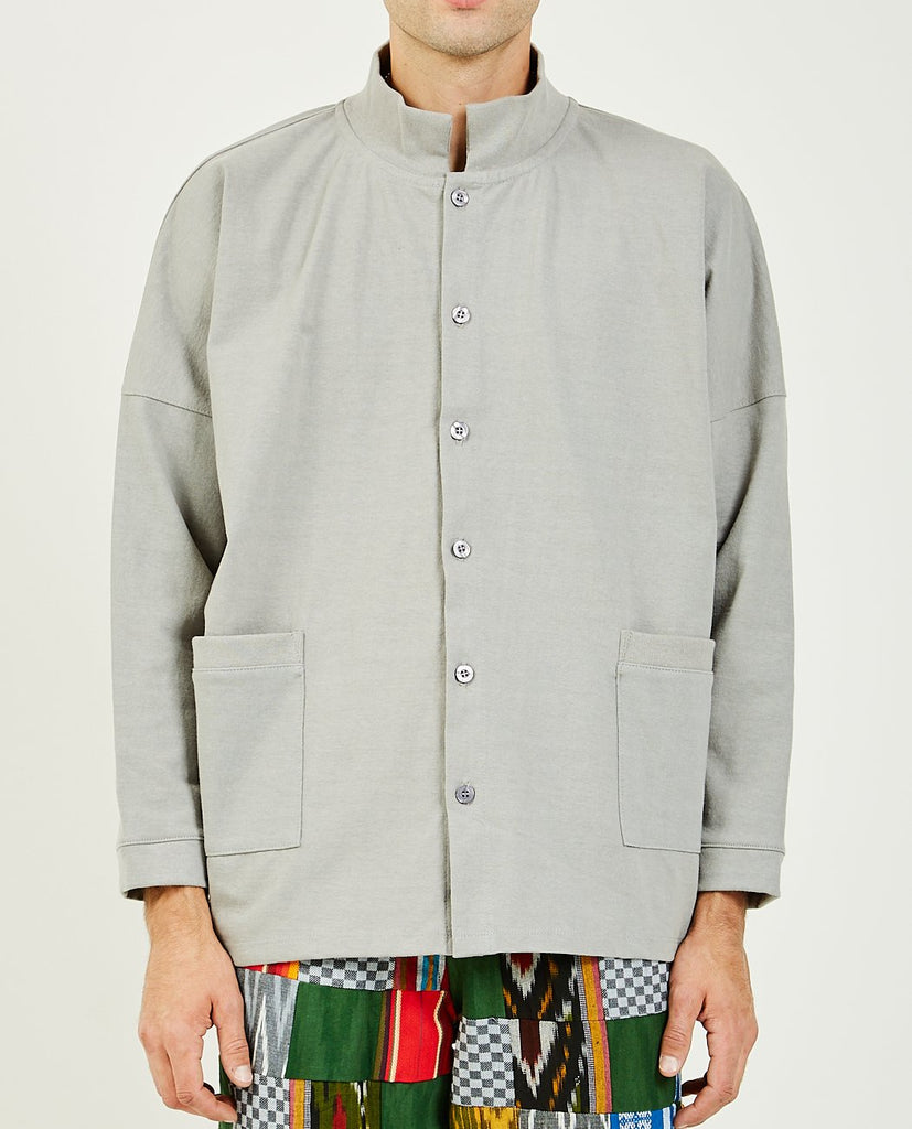 LUDA KHANLARI-Merrill Cardigan Grey-Men Shirts-{option1]