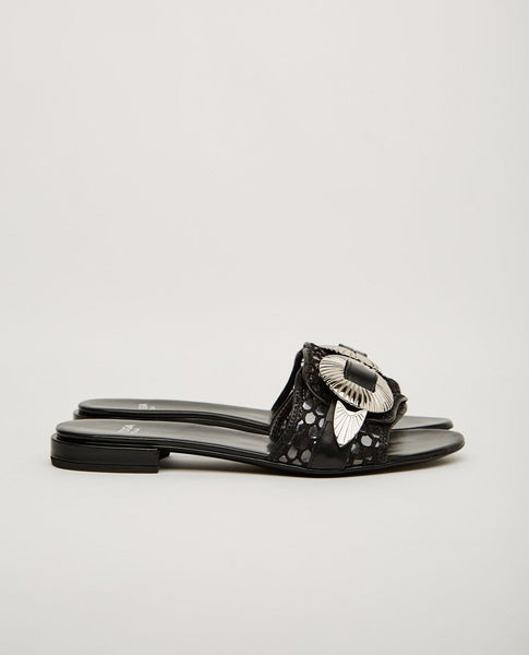 TOGA PULLA MESH AND BUCKLE FLAT SANDAL