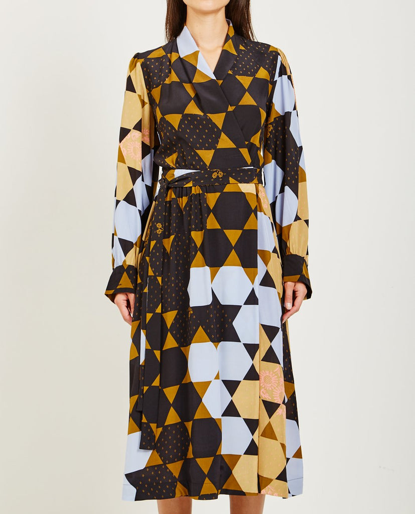 STINE GOYA-MICAELA HEXAGON WRAP DRESS-Dresses-{option1]