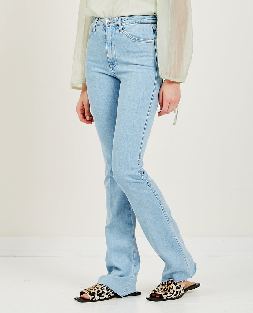 SPRWMN-Michelle Micro Flare Raw Hem Jean-Women Straight-{option1]