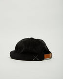 BETON CIRE-MIKI VELVET CORDUROY BLACK-Men Hats-{option1]