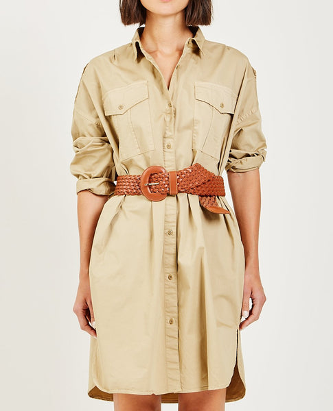 ALEX MILL MILITARY SHIRT DRESS