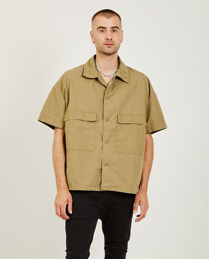 REMI RELIEF-Military Wide Shirt Khaki-SUMMER20 Men Shirts-{option1]