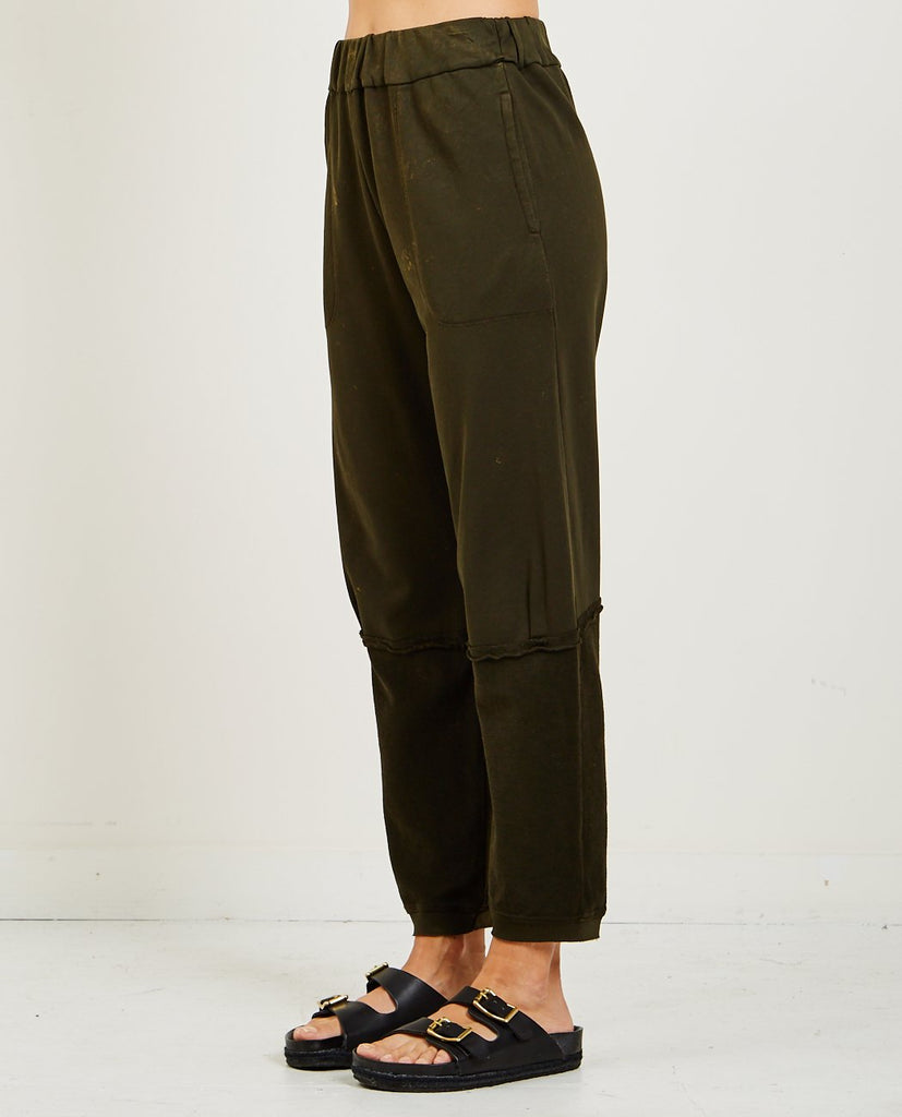 RAQUEL ALLEGRA-MINERAL WASH SWEATPANT-Women Pants-{option1]