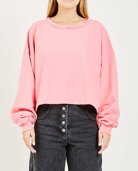 RACHEL COMEY MINGLE SWEATSHIRT BUBBLEGUM
