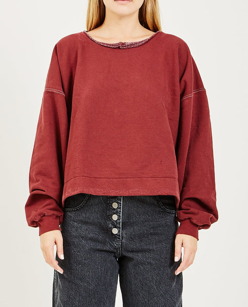RACHEL COMEY MINGLE SWEATSHIRT BURNT UMBER