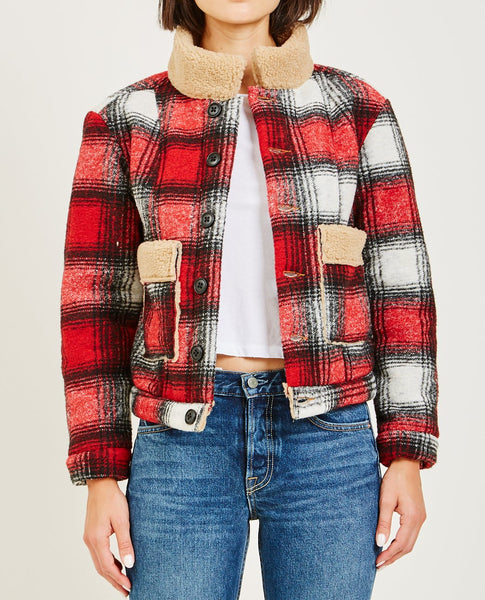 NSF MIRANDA PLAID BARN JACKET