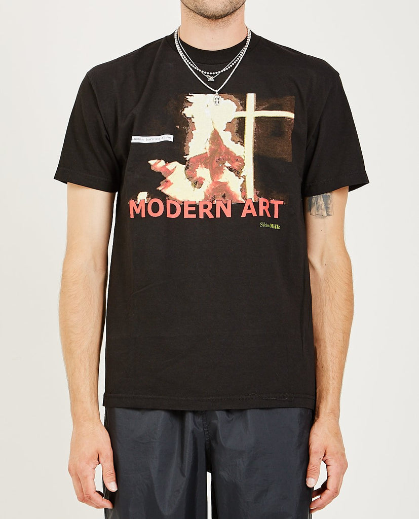 SKIM MILK-MODERN ART TEE-Men Tees + Tanks-{option1]