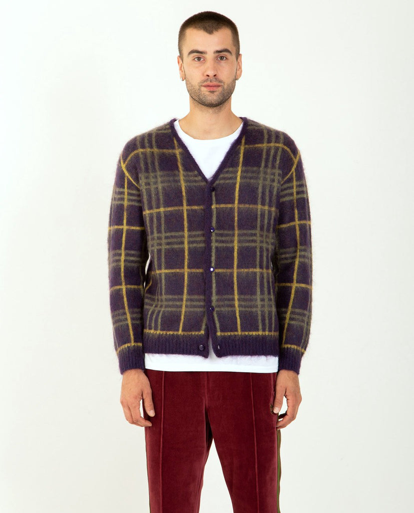 Mohair Cardigan Plaid-NEEDLES-American Rag Cie