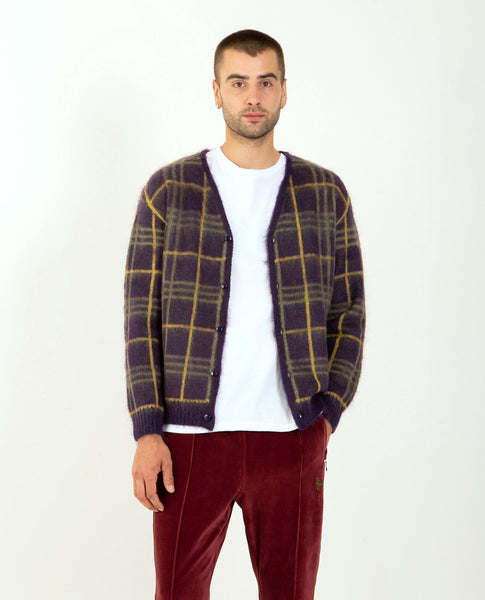 NEEDLES Mohair Cardigan Plaid