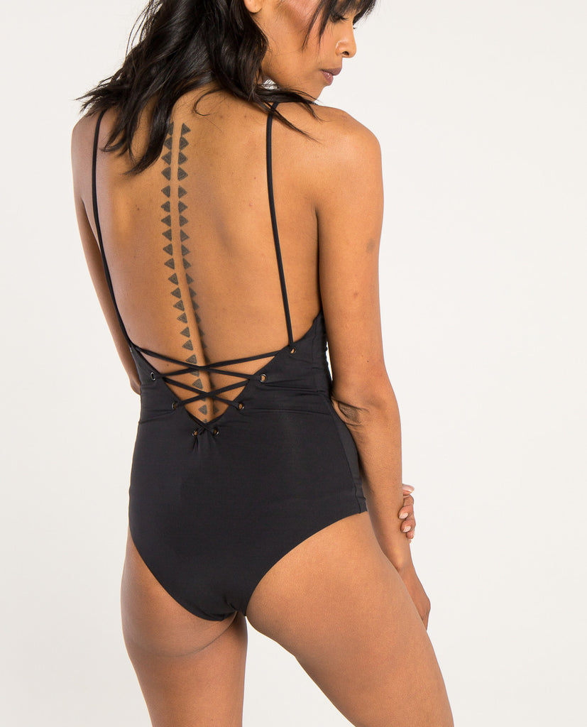 MONAHAN LACE UP ONE PIECE-TAVIK-American Rag Cie