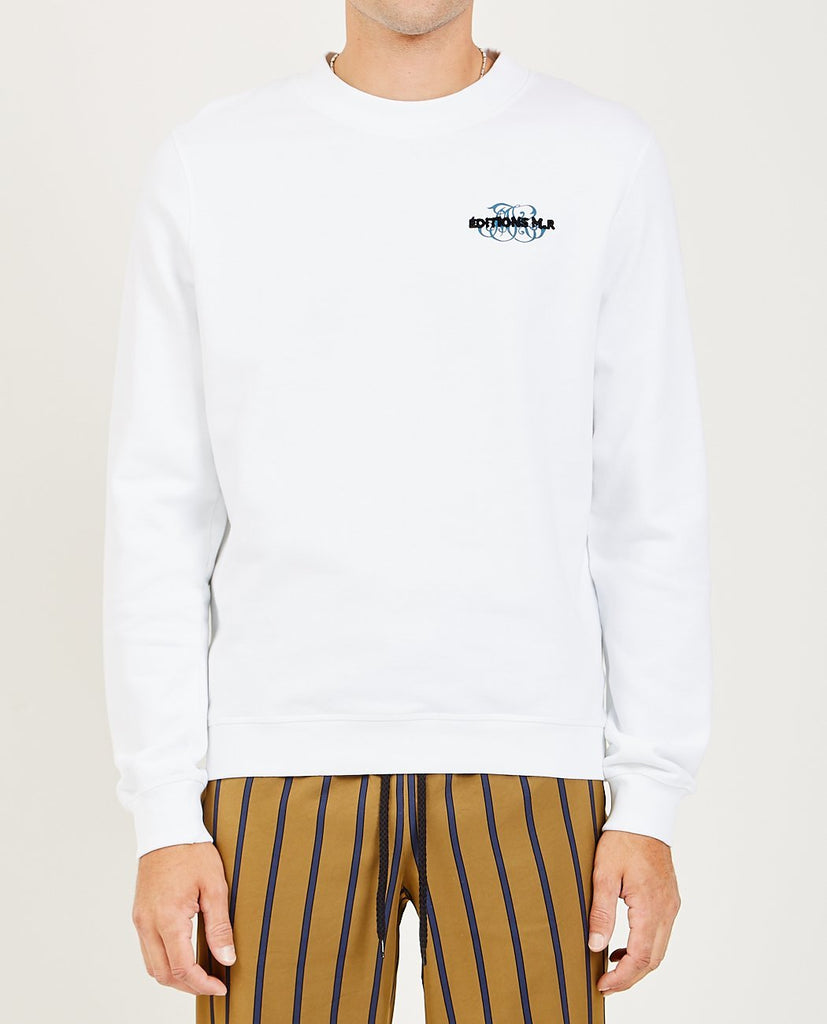EDITIONS M.R.-MONOGRAM LOGO EMBROIDERED SWEATSHIRT-Men Sweaters + Sweatshirts-{option1]