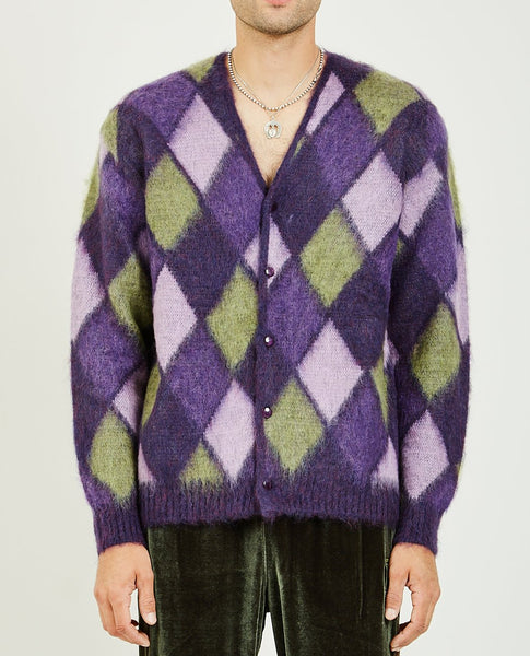 NEEDLES MOSAIC MOHAIR CARDIGAN