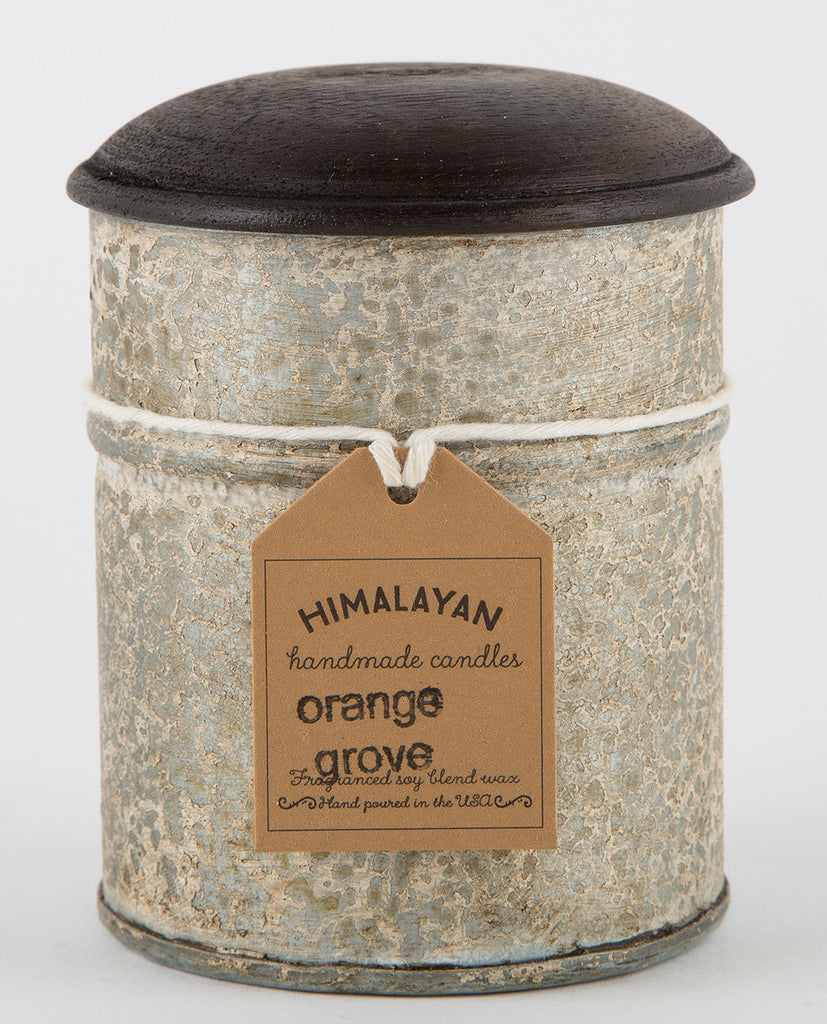 MOUNTAIN FOREST SPICE TIN CANDLE-HIMALAYAN TRADING POST-American Rag Cie