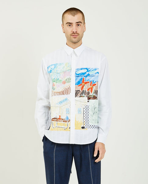 THE MUSEUM VISITOR Multi Color Pocket Shirt