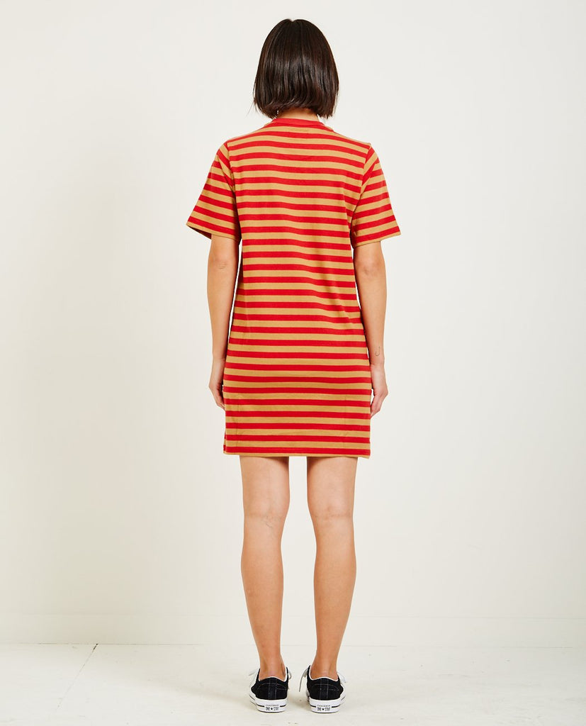 STUSSY-MURRAY STRIPED TEE DRESS-Dresses-{option1]