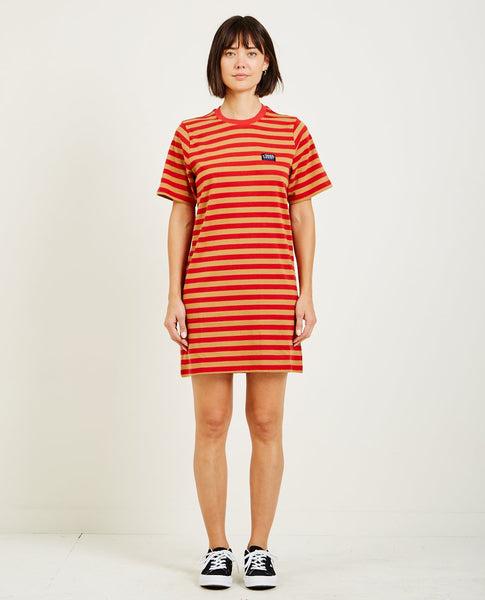STUSSY MURRAY STRIPED TEE DRESS