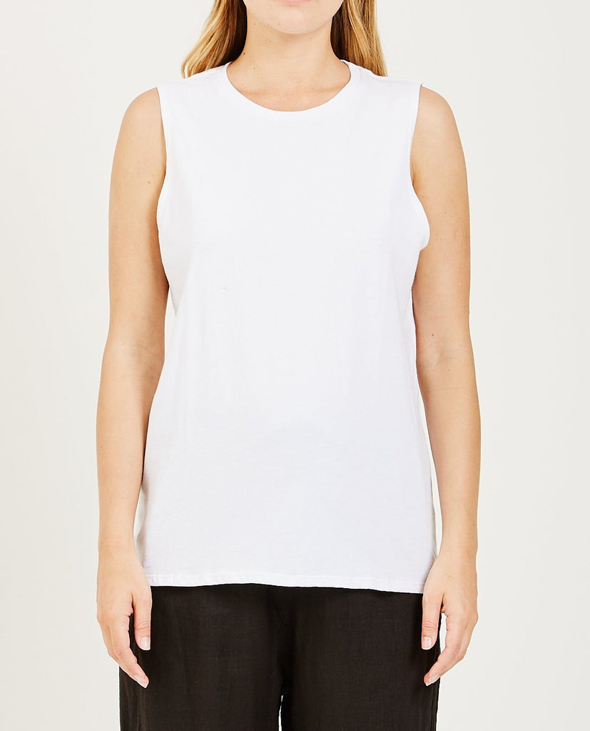 Muscle Tank White-RICHER POORER-American Rag Cie